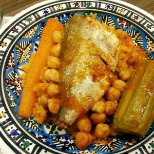 Couscous à la dorade et légumes