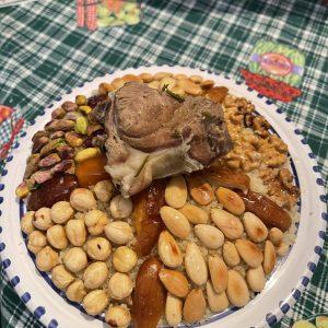 Couscous kefois «Borzguen» à l'agneau et aux fruits secs